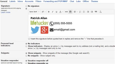gmail signatures templates create professional looking gmail signatures with the
