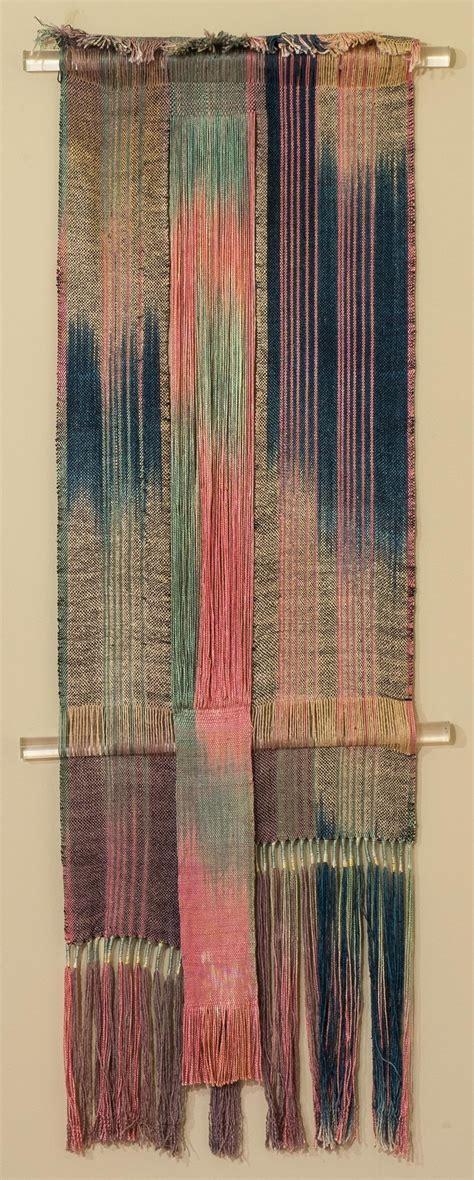 tea ceremony textile wall hanging  heidi lichterman
