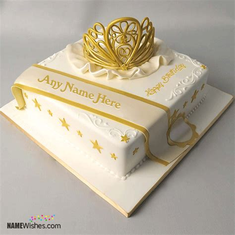 Queen Birthday Cake With Name For Girls
