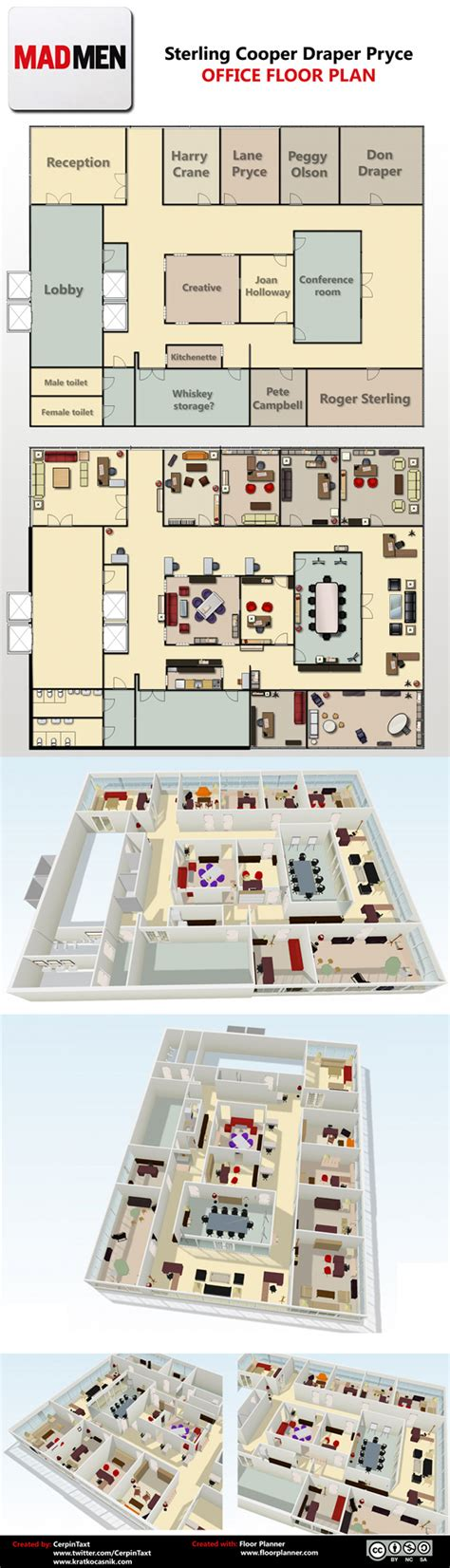 Mad Men Floor Plan | mad men office floor plan