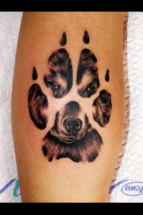 Tattoo Pinterest Dog   dog in paw print tattoo tattoos pinterest