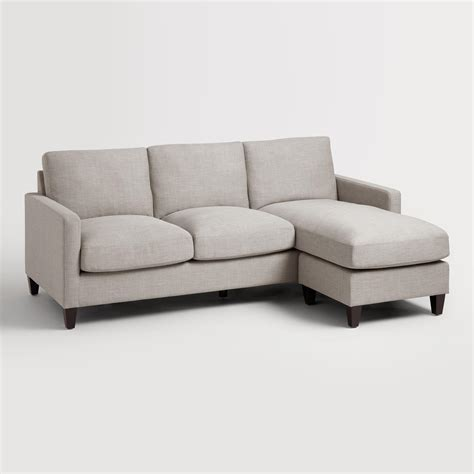 dove grey sofa dove gray textured woven abbott sofa world market