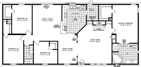 House Plans 2000 Sq Ft 2 Story 2000 Sq Ft And Up Manufactured Home Floor Plans