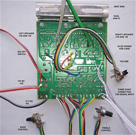 Power Mini Lifier 4440 1 100w diy stereo audio lifier circuit kit board bass treble 4440 ic ebay