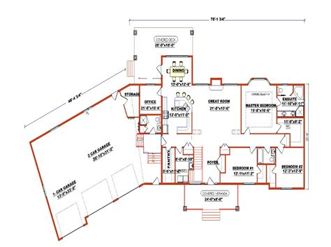 ranch house plans by edesignsplansca 5 simple house ranch style floor plans with angled garage luxury ranch