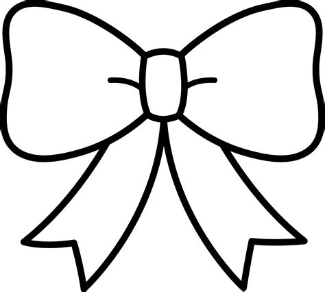 free drawing bow coloring pages