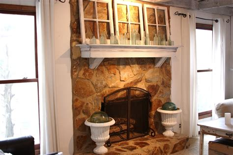 erin s and gardens painted fireplace before and