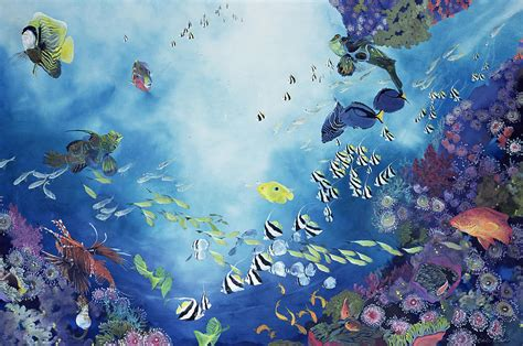 acrylic painting underwater underwater world iii painting by odile kidd