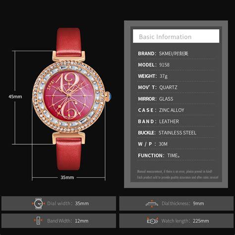 Jam Tangan Fashion Wanita skmei jam tangan fashion wanita 9158 white