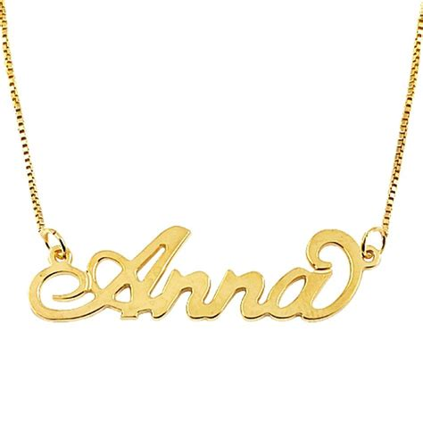 18k solid gold name necklace carrie style be monogrammed