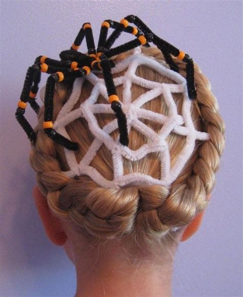 halloween hairstyles spider halloween frisuren kinder m 228 dchen z 246 pfe pfeifenreiniger