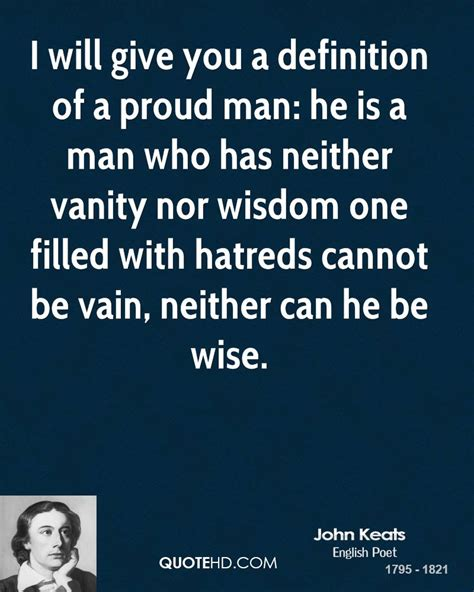 Vanité Définition by Keats Wisdom Quotes Quotehd
