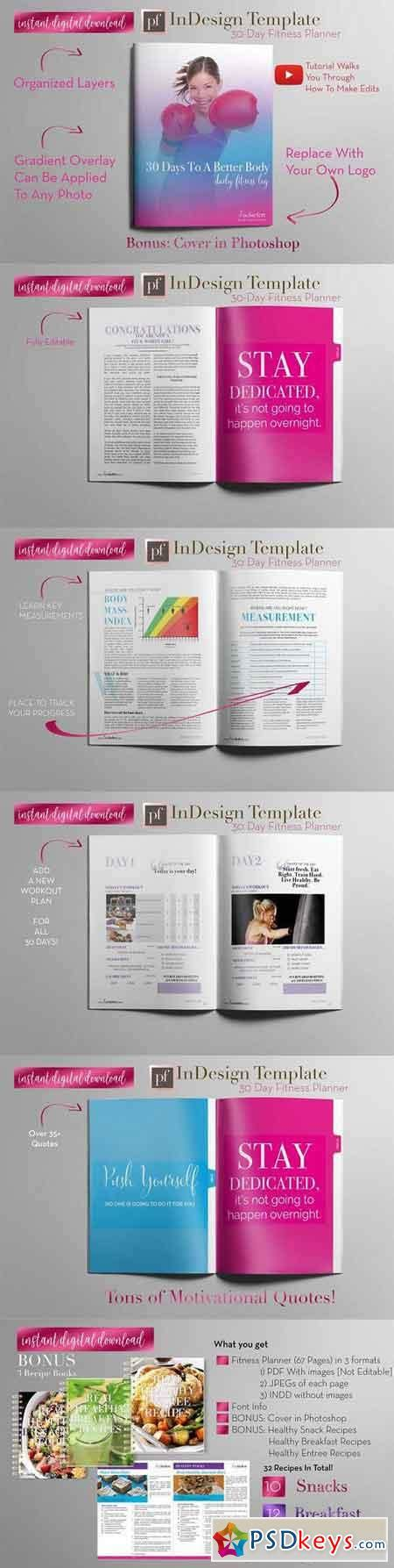 Fitness Planner Indesign Template 1205805 187 Free Download Photoshop Vector Stock Image Via Indesign Planner Template Free