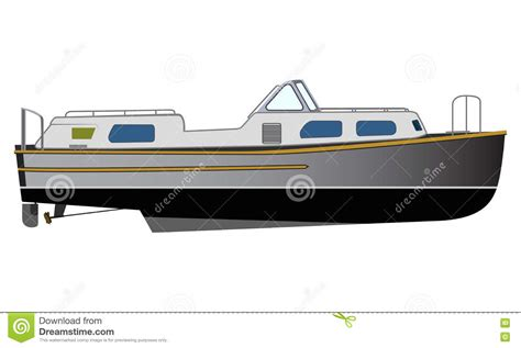 canal boat icon houseboat cartoons illustrations vector stock images
