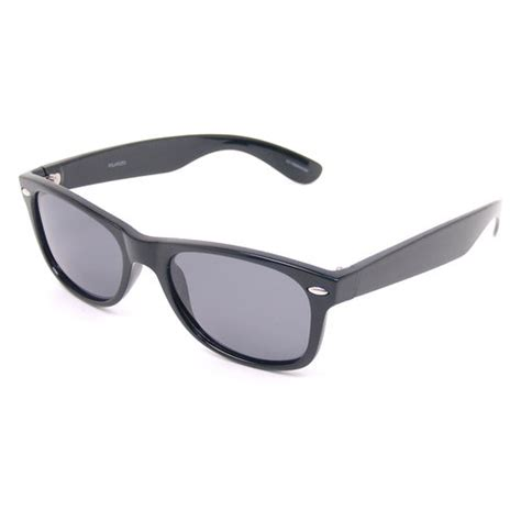foster grant polarized wayfarer sunglasses black