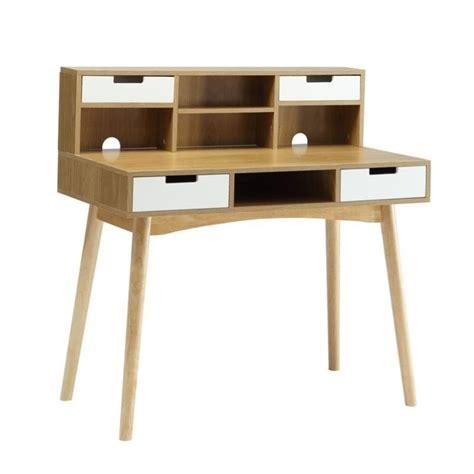 white light desk l desk in white and light oak 203536