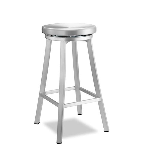 brushed aluminum navy backless swivel bar stool at bar stool aluminum aluminum sandra navy style restaurant