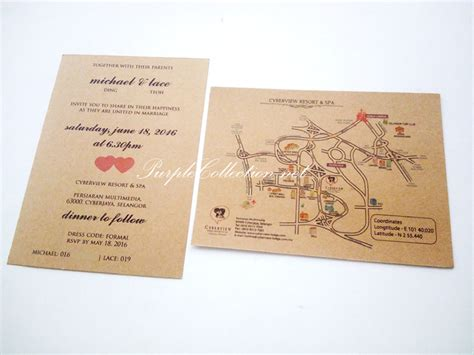 Flat Card Wedding Invitations by Kraft Flat Card Wedding Invitation