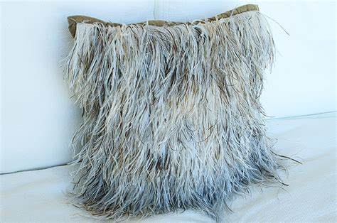Ostrich Feather Pillow by Accent Pillows Come Play