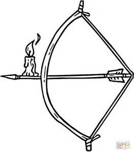 dibujo de vela sobre una flecha para colorear dibujos