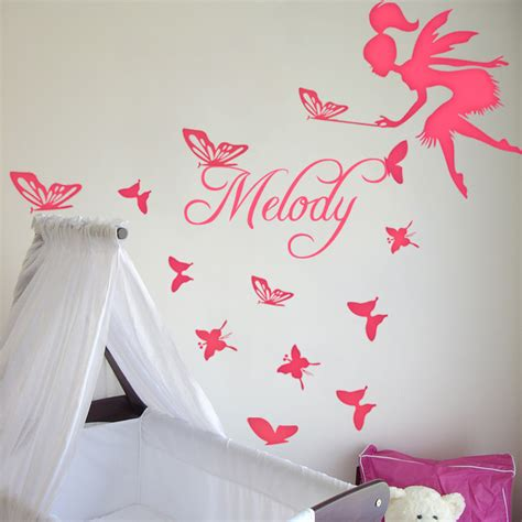 custom wall stickers australia custom s name with and butterfly wall decal sticker