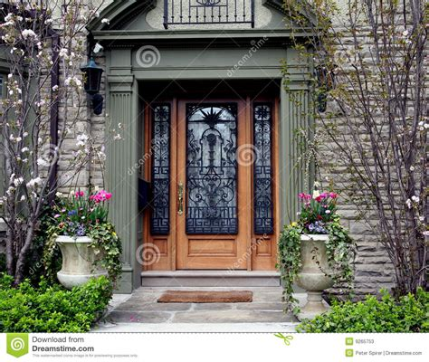 Ornate Front Door With Flowers Stock Photos Image 9265753 Ornate Front Doors