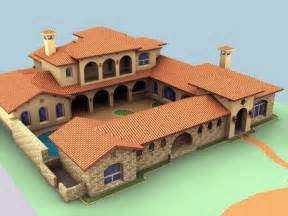 hacienda plans spanish mediterranean style homes spanish hacienda style