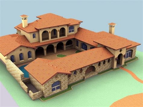hacienda style home plans spanish hacienda house plans courtyard