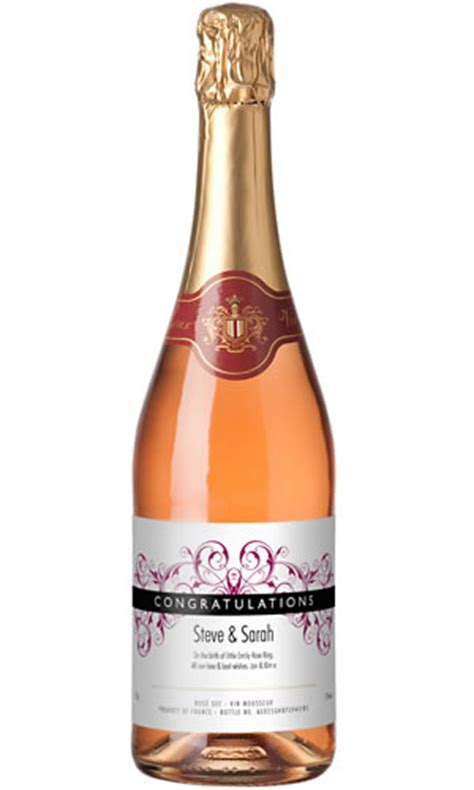 personalised sparkling rose wine buy from prezzybox com