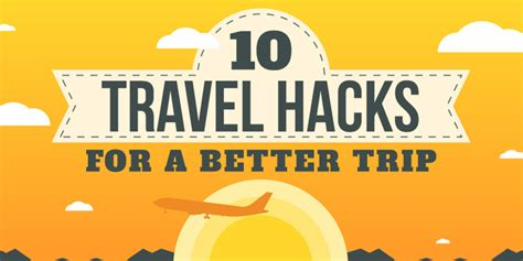 10 Tips For Being A Better Lover by 10 Travel Tricks Or Hacks For A Better Trip