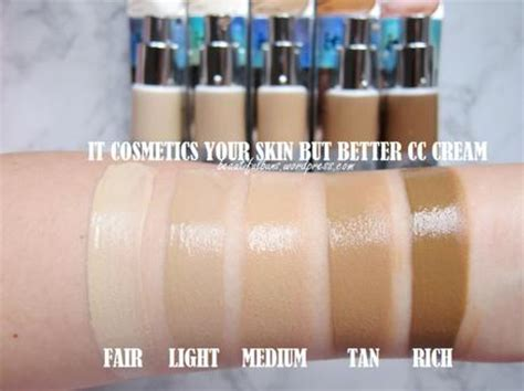 it cosmetics cc light vs medium review swatches it cosmetics your skin but better cc