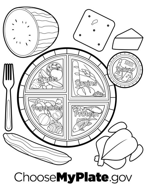 my plate coloring page myplate coloring page nutritioneducationstore