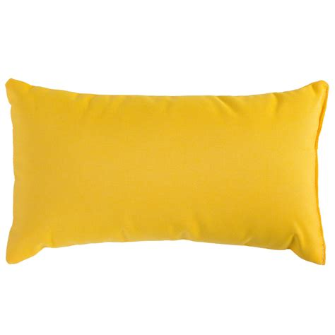 sunflower yellow sunbrella outdoor throw pillow dfohome