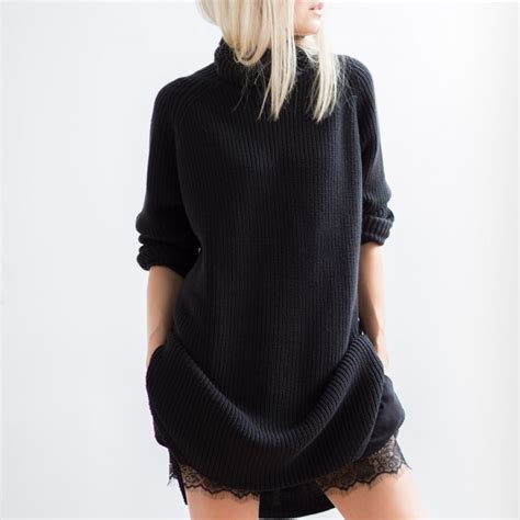 And Black Sweater the oversized sweater an autumn style staple just the