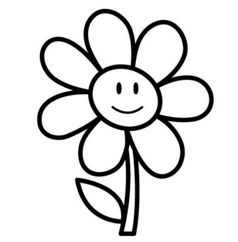 flower coloring pages easy free flower coloring pages clipart best