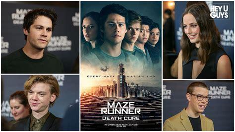jadwal film xxi maze runner the maze runner the death cure premiere interviews dylan