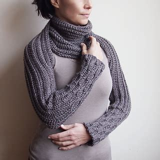 knitting pattern sleeve scarf ravelry knit look sleeve scarf pattern by ana d