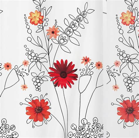 Detox From Spriella by Spirella Alessia Textile Shower Curtain 180 X 200cm