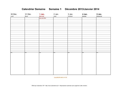 Calendrier 2014 Par Semaine Calendrier Semaine 2014