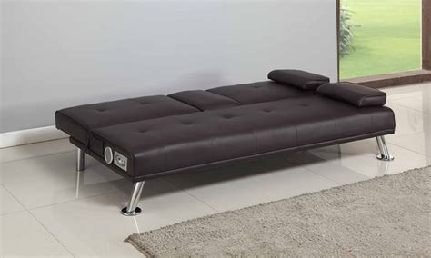 couch with speakers sofa bed with bluetooth speakers groupon goods