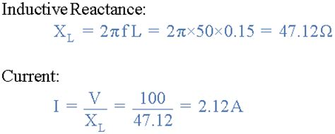 calculating inductor voltage inductive reactance reactance of an inductor