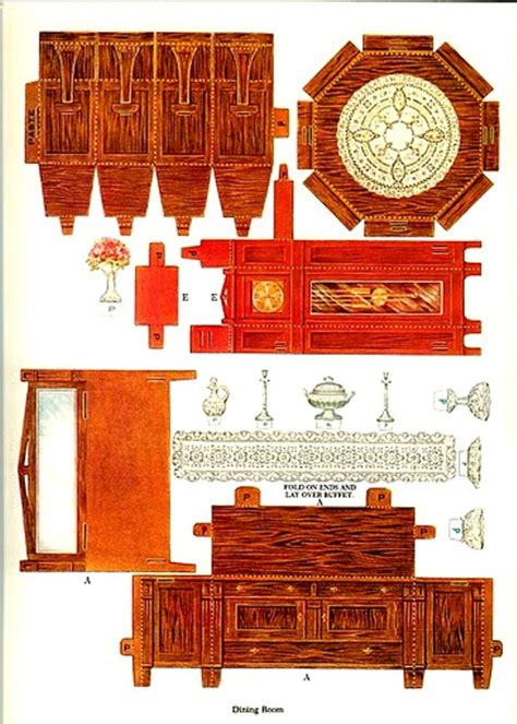 How To Make Paper Dollhouse Furniture - pin printable paper dollhouse furniture pictures on