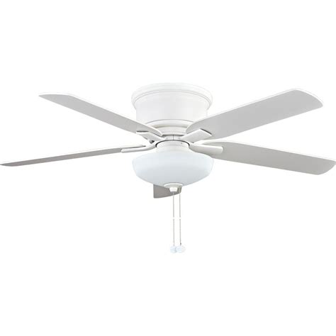 low profile white ceiling fan with light hton bay springs low profile 52 in led indoor matte white ceiling fan with light kit