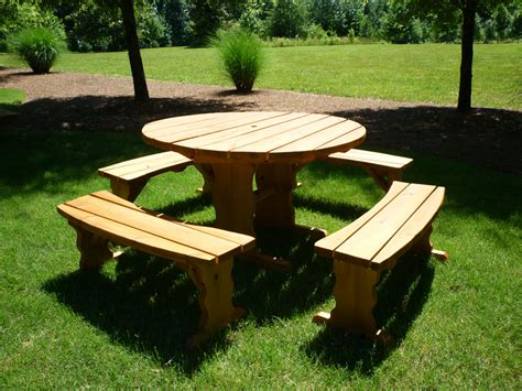 round wooden picnic bench picnic tables home depot all about house design best round wood picnic table