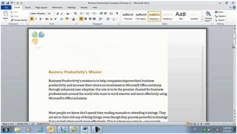 Professional Documents Using Microsoft Word 2010 Professional Templates Microsoft Word