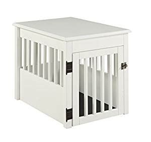 crate end table amazon amazon com barkwood pet crate end table white finish