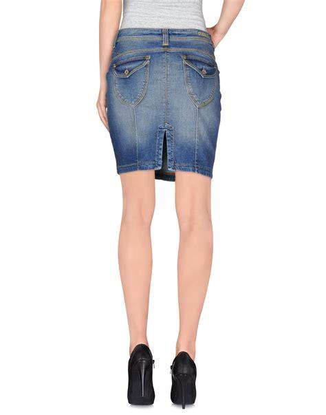 Guess Denim Skirt guess denim skirt in blue lyst