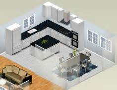 shaped kitchen island commercial