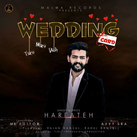 Wedding Card On Song by Harfateh Wedding Card Mp3 Song Djjohal