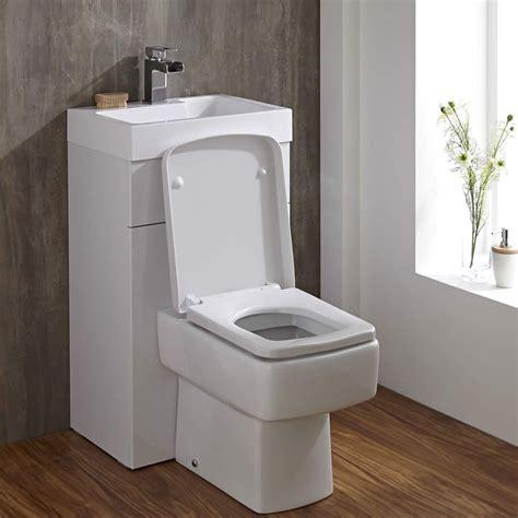 eckige toilette mit spuelkasten und integriertem waschbecken